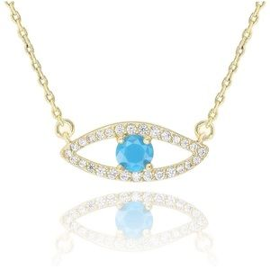 Jewelry - Gold chain evil eye necklace - new